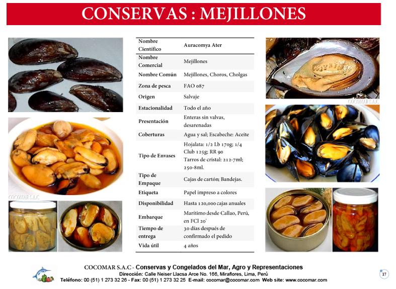 12. Cocomar (Peru) – Conservas de Mariscos – Mejillones