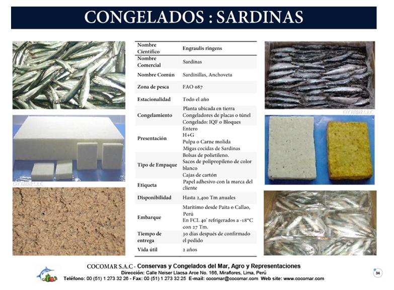 12. Cocomar (Peru) – Sardinas congeladas