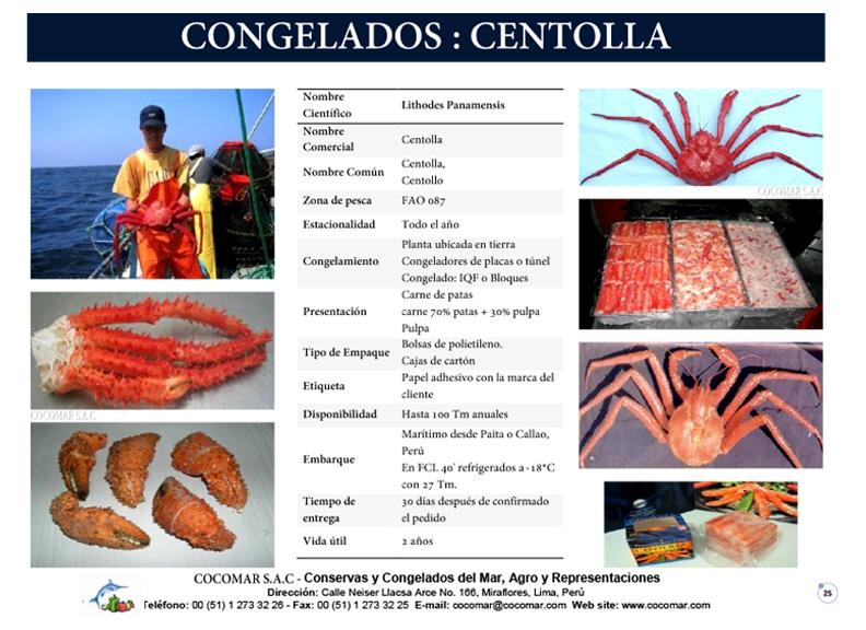 21. Cocomar (Peru) – Centolla congelado