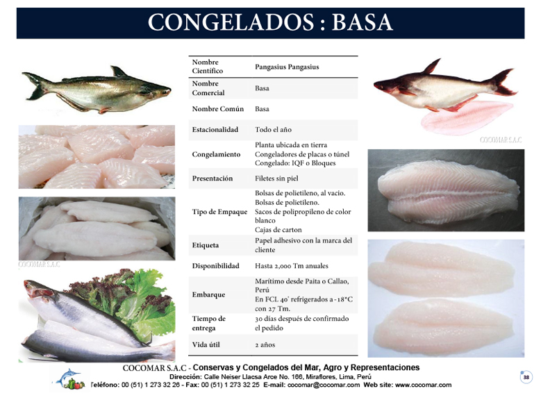 3. Cocomar (Peru) – Basa congelado