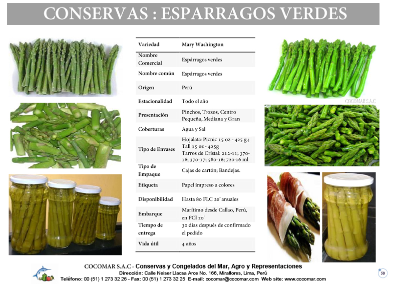 Cocomar (Peru) – Conservas de Esparragos Verdes
