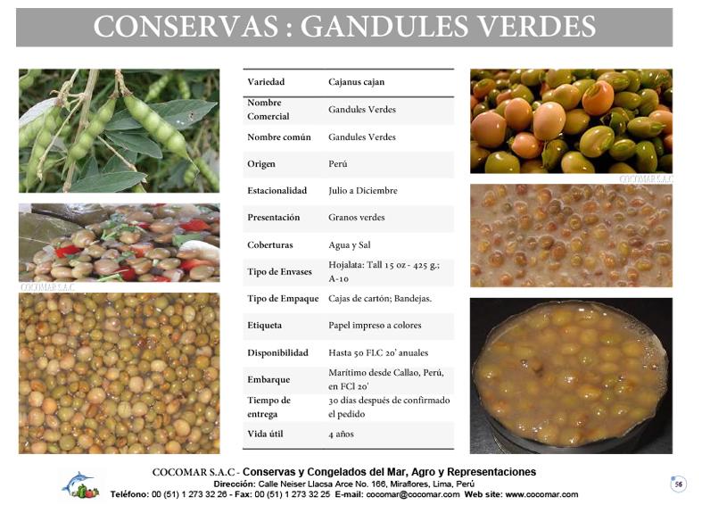 Cocomar (Peru) – Conservas de Frejol Verde Gandules