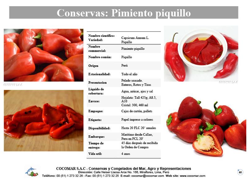 Cocomar (Peru) – Conservas de Pimiento piquillo