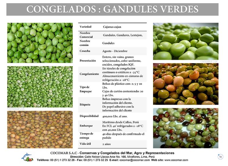 GANDULES VERDES